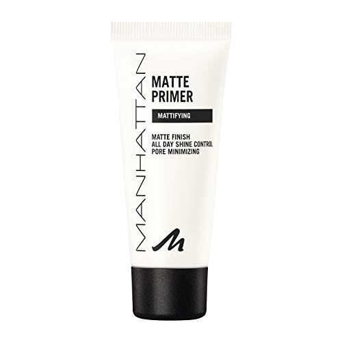 Manhattan Matte Primer, Leichter und mattierender Primer für ein makelloses Hautbild und ein Ideal mattiertes, ebenmäßi