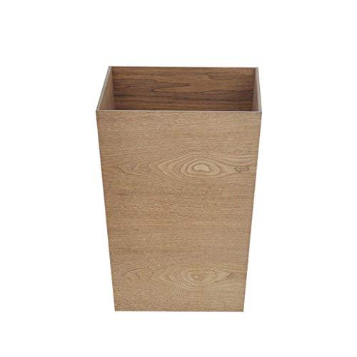ZFFSC Mülleimer für den Innenbereich Ibuprofen japanischen Stil Aufbewahrungsbox Holz ohne Abdeckung Glove Box Aufbewahrungsbox Haushalt Wohnzimmer Schlafzimmer Abfalleimer Mülleimer