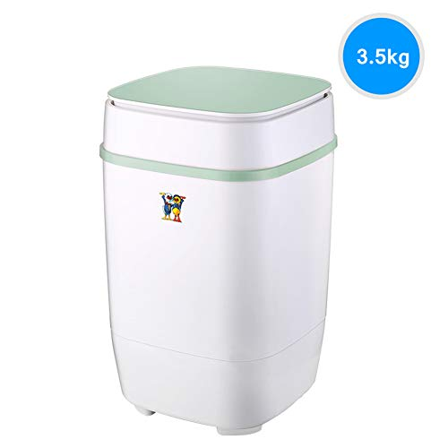 Portable Mini Single Tub Washing Machine Blu-ray efficiënt reinigen Wasmachine en centrifuge Combinatie Compact Camping slaapzaal Apartment College Room 3.5kg Totale capaciteit Gift drain basket