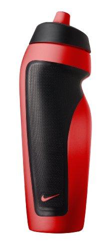 Nike 9.341.009.602. Polyethylene, Polypropylene Water Bottle, 20 ounces, Sport Red/Black