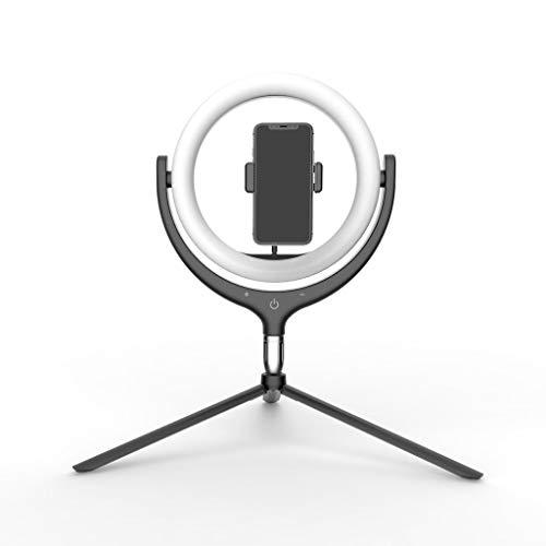 12 inch Desktop Ring Licht, Statief Telefoon Houder Vul Licht 96One Lamp Kralen Voor Make-up Live Stream Fotografie, Zwart