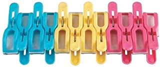 Samudratanaya Exports Towel Clips Cruise Chair Holder Double Thickness Fashion Colors Plastic Quilt Hanging Clamps Jumbo Size 12 Pack for Pool Loungers Clothes Blanket Swimsuits,Curtains
