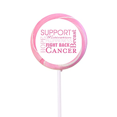 24ct shipfree Breast Cancer Awareness Candy Lollipops Max 59% OFF Swirly 24 Pack Pop