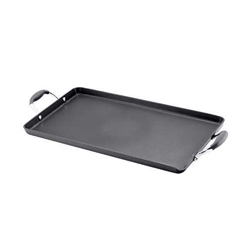 Anolon Advanced Hard-Anodized Nonstick Double Burner Griddle, Gray