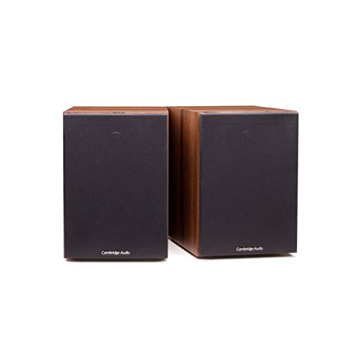 Cambridge Audio SX50 Bookshelf Speaker | 100 Watt Home Theater Compact Speakers | Pair (Dark Walnut)