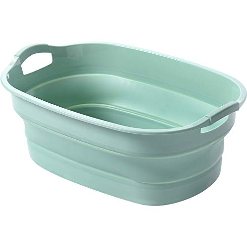 ZSHYP Opvouwbare wastafel wastafel inklapbare kuip, opvouwbare schaal Draagbare wastafel Fruit Groente Basin Voor Camping Vissen Auto Wassen Tool