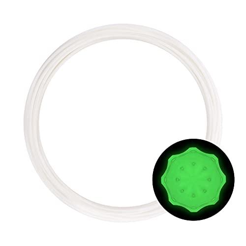 eSUN Campione di Filamento PLA Plus, Glow in the Dark Verde, Stampante 3D Filamento PLA+ 1.75mm, Rotolo da 10 Metri (32.8 Piedi) Materiali di Stampa 3D per Stampante 3D, Verde Luminoso