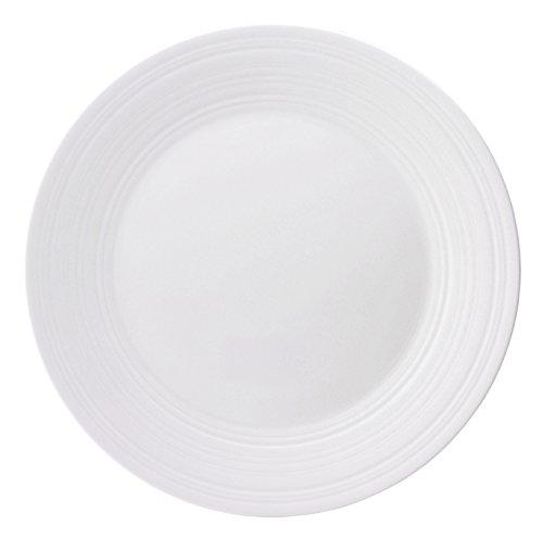 Jasper Conran by Wedgwood White Bone China Dinner Plate Swirl 11