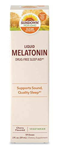 Sundown Sublingual Melatonin Liquid Cherry Flavor, 2 Ounces