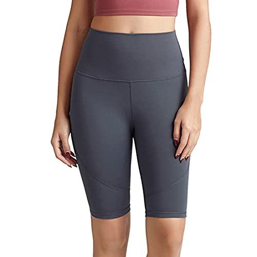 Damas Estiramiento Correr Fitness Pantalones de yoga de cinco puntos Pantalones de yoga para correr Leggings opacos de alta elasticidad Ejercicio de gran tamaño Gimnasio Yoga Pantalones elásticos