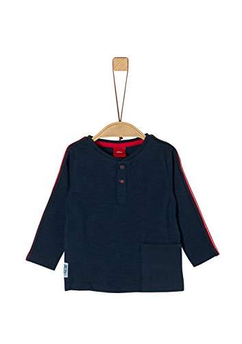 s.Oliver Baby-Jungen 65.911.31.7735 Langarmshirt, Blau (Dark Blue 5952), (Herstellergröße: 80)