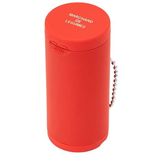 Dreams(ドリームズ) 携帯灰皿 ポケットアッシュトレイ ラバー ハニカム 6本収納 レッド MDL45115直径3.5×高さ7.8cm