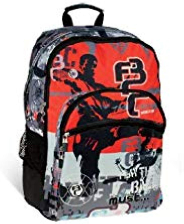 Diakakis 000579349 Backpack Must Energy 33X45X16Cm 4Cases Football, Multicolord, 33 x 45 x 16 cm