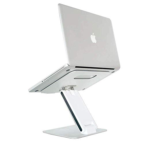 CNMF Z-vormige laptopstandaard, koelcomputer basis voor verstelbare kijkhoek en hellingshoek voor het optillen van laptops en tablets zoals projectors en laptops Apple Acer Samsung.