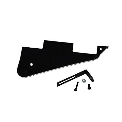 IKN Standard LP Guitar Pickguard Scratch Plate con soporte negro para Gibson Style o Epiphone Style LP Style Electric Guitar, 3 capas negro/blanco/negro