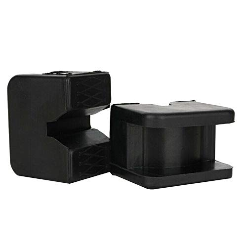 2PCS Jack Pad Universal Slotted Frame Rubber Pad Pad, elevador de coche Adaptador de goma Marco ranurado Negro Protector Jacking Pad Stand