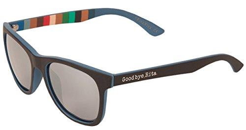 Goodbye, Rita. - Gafas de sol Polarizadas doble color azul y negro - Tacto engomado - Modelo Billy