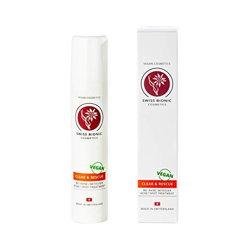 Clear & Rescue Anti-Pickel-Creme - hochwirksam gegen Akne, Pickel und Mitessern ohne auszutrocknen - Naturkosmetik 50ml von Swiss Bionic Cosmetics