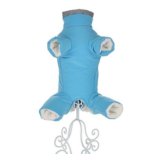 Les Vêtements D'hiver For Les Petits Chiens Manteau Chaud En Polaire Chiot For Animaux Veste Imperméable Reflective For Chien Vêtements Salopette Jumpsuits Soft ( Color : Blue For Girl , Size : 16 )