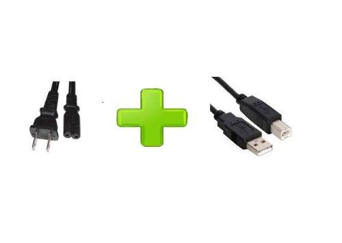 Canon PIXMA MP250 MP280 Printer Figure 8 AC Power Cord + USB Cable Cord