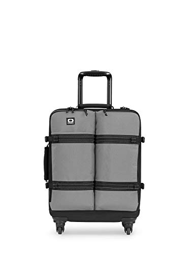 OGIO Alpha Convoy 520s Eco-Cordura 4-Wheel Spinner Carry-On Travel Bag with Laptop/Table Compartment, Charcoal, 55 cm-33 Litre