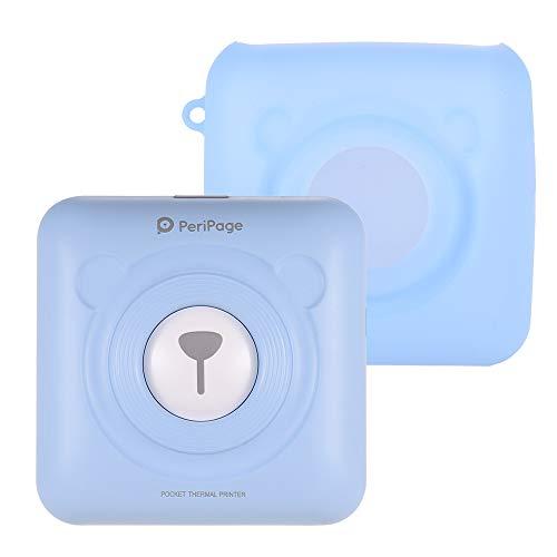Aibecy PeriPage Mini Fotodrucker Wireless BT Thermodrucker Bild Fotoetikett Memo Quittungspapierdrucker mit USB Kabel Silikonhulle