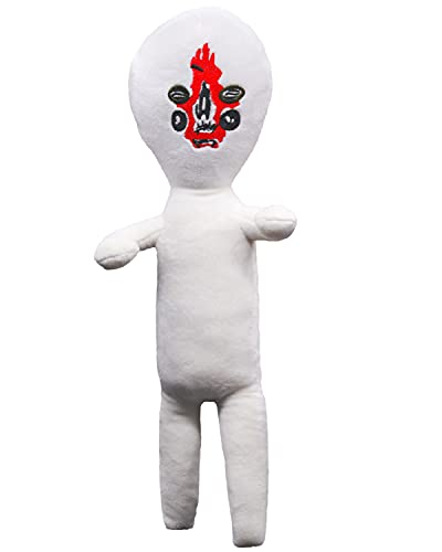 13 inch SCP Plush Toys Siren Head Plush Doll SCP Toy Yellow Peanuts Plush Toys and Durable Cartoon Doll Gift for Children Kids Halloween Party (White, 15.7inch)