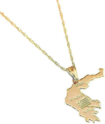 Yiffshunl Collar con Colgante Grecia Grecia Grecia Regalo para Mujeres Hombres Mapa Griego de Atenas Joyas con Juego de Regalo para Mujeres y Hombres Regalos