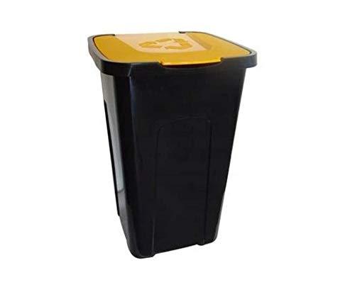 keeeper Mülleimer Abfallbehälter Küche Mülltrenner Abfalltonne Abfalleimer Papierkorb 50 L (Gelb)