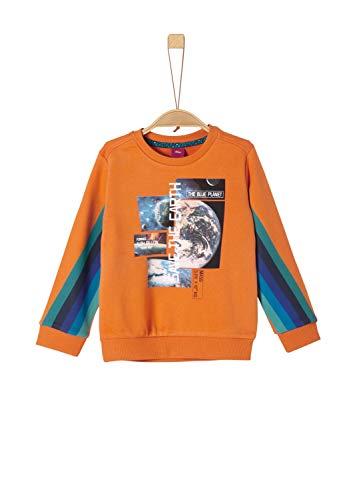 s.Oliver Jungen 63.908.41.2540 Sweatshirt, Orange (orange 2314), (Herstellergröße:104/110/REG)