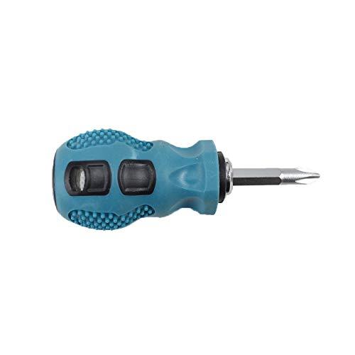 Ballylelly Destornilladores de mango corto de 2 vías Destornillador telescópico de doble propósito Herramienta de reparación de precisión magnética ajustable