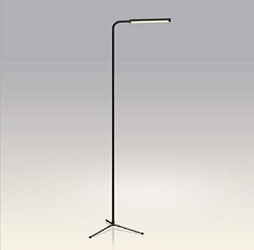 DSENIW QIDOFAN Lámpara de pie moderna simple LED de 5 W lámpara de pie inteligente regulable al tacto, color negro