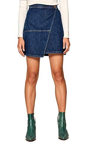 edc by Esprit 019cc1d001 Falda, Azul (Blue Medium Wash 902), 36 (Talla del Fabricante: 34) para Mujer