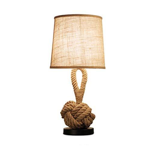 SMEJS Nórdico País Lámpara de mesa moderna LED E27 Tela Lámpara de escritorio de hierro para dormitorio para sala de estar Dormitorio Lobby Study Cafe Shop