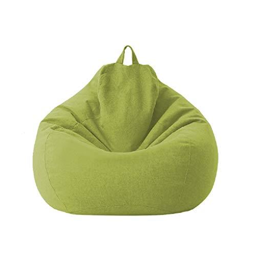 Fodere per sacco a sacco Sedia da gioco per bambini adulti Immagazzinaggio Sedia per divano pigro Fodera per sedia a sacco Fodera impermeabile Sedia per interni ed esterni (Green, 100 * 120cm)