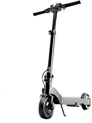 LLKK Los scooters eléctricos ligeros y plegables, bicicletas eléctricas impermeables de 36 V 250 W, la velocidad máxima de 25 millas (color negro)