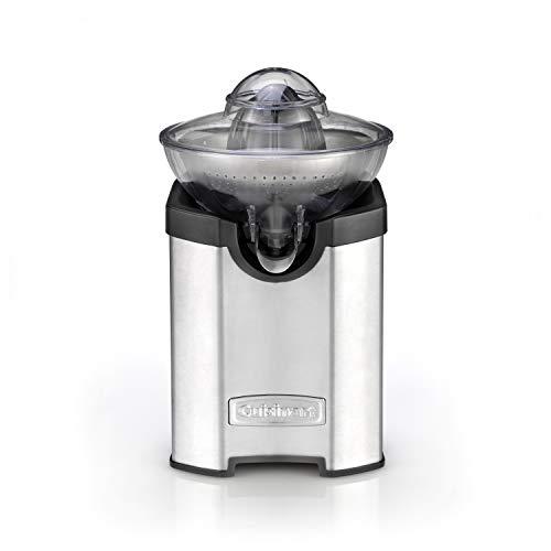 Cuisinart CCJ210E Exprimidor eléctrico de acero inoxidable con función Turbo, sistema antigoteo, todo tipo de cítricos, apto lavavajillas, apto con vaso alto