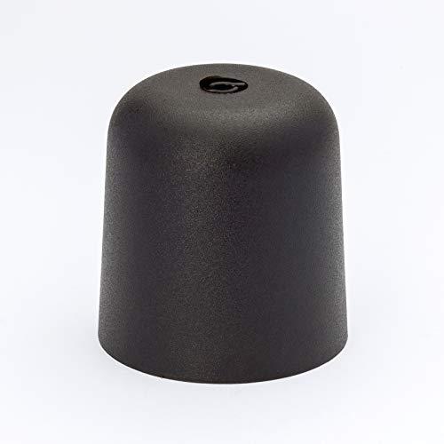 Baldachin PVC Kunststoff mit Kabelhalerung (schwarz)