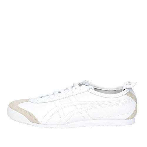 Onistuka Tiger Mexico 66, Zapatillas Unisex Adulto, Blanco (White/White 0101), 44 EU