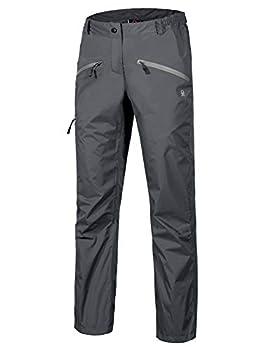 Little Donkey Andy Women's Lightweight Waterproof Breathable Rain Pant Gray Size M
