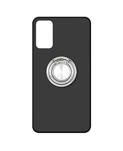 Sunrive Kompatibel mit ZTE Axon 20 5G Hülle Silikon, 360°drehbarer Ständer Ring Fingerhalter Fingerhalterung Handyhülle matt Schutzhülle Etui Hülle (A2 Silberig) MEHRWEG