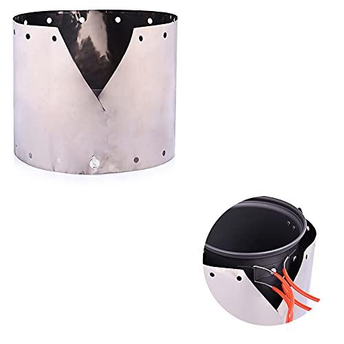 Parabrisas de estufa de titanio extra fino escudo de viento al aire libre portátil a prueba de viento cocina gas parabrisas plegable para camping picnic