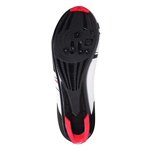 Muddyfox Men's Rbs100 Cycling Shoes White/Black/Red 8