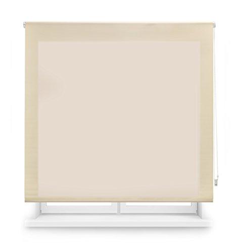 Blindecor Ara - Estor enrollable translúcido liso, Beige, 100 x 250 cm (ancho x alto)