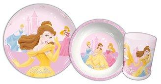 Disney Princess Vaisselle - Assiette, Bol et Gobelet