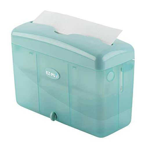 """EZ-PUll 4600T Countertop Slimfold Paper Dispenser (ONLY for P2F5 Towel), 9"""" x 3.5"""" x 6"""", Turquoise"""