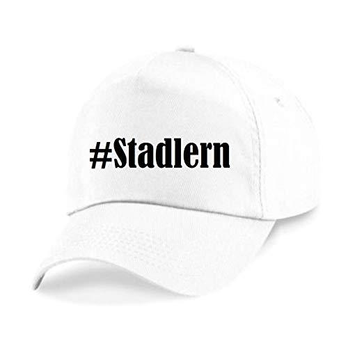 Reifen-Markt Base Cap Hashtag #Stadlern Größe Uni Farbe Weiss Druck Schwarz