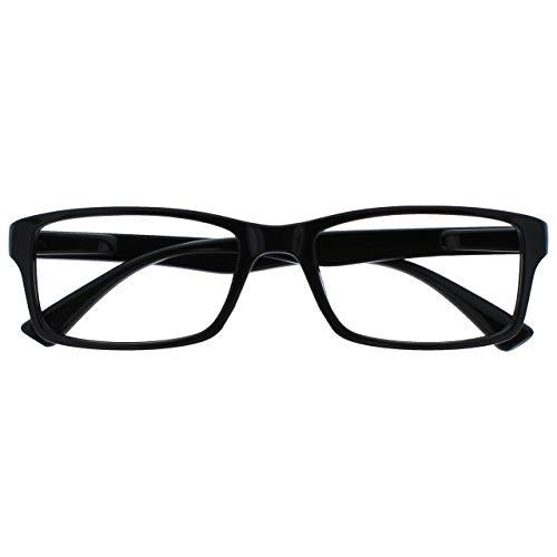 Die Lesebrille Unternehmen Schwarz Kurzsichtig Fernbrille Für Kurzsichtigkeit Herren Frauen UVM092BK -1,50
