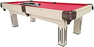 Pool Central Billiard and Pool Game Table, Beige, 7' x 3.9'