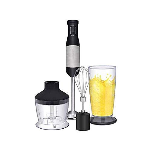 LKNJLL Handmixer - mit Ei Whisk & Chopper, leistungsstarker 300- Watt - Stick Mixer, Handmischer Set Edelstahlwelle &...